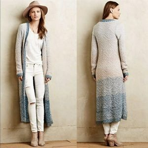 Anthropologie Moth ombré loopstitch duster sweater